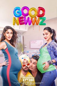 """Poster for the movie """"Good Newwz"""""""