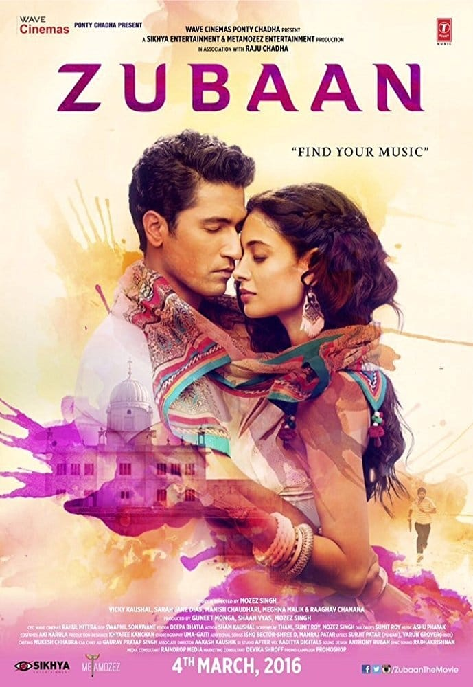 "Poster for the movie ""Zubaan"""