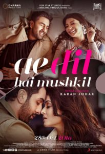 """Poster for the movie """"Ae Dil Hai Mushkil"""""""